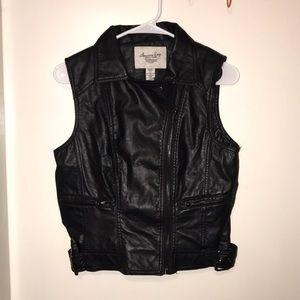 American Rag faux leather vest jacket!